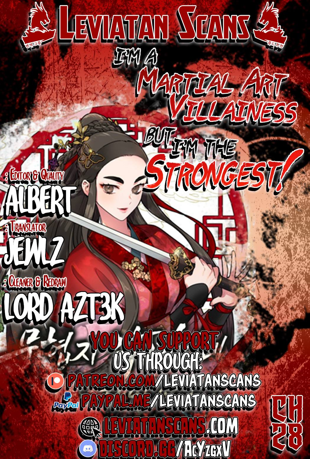 I'm a Martial Art Villainess but I'm the Strongest! - chapter 28 - #1