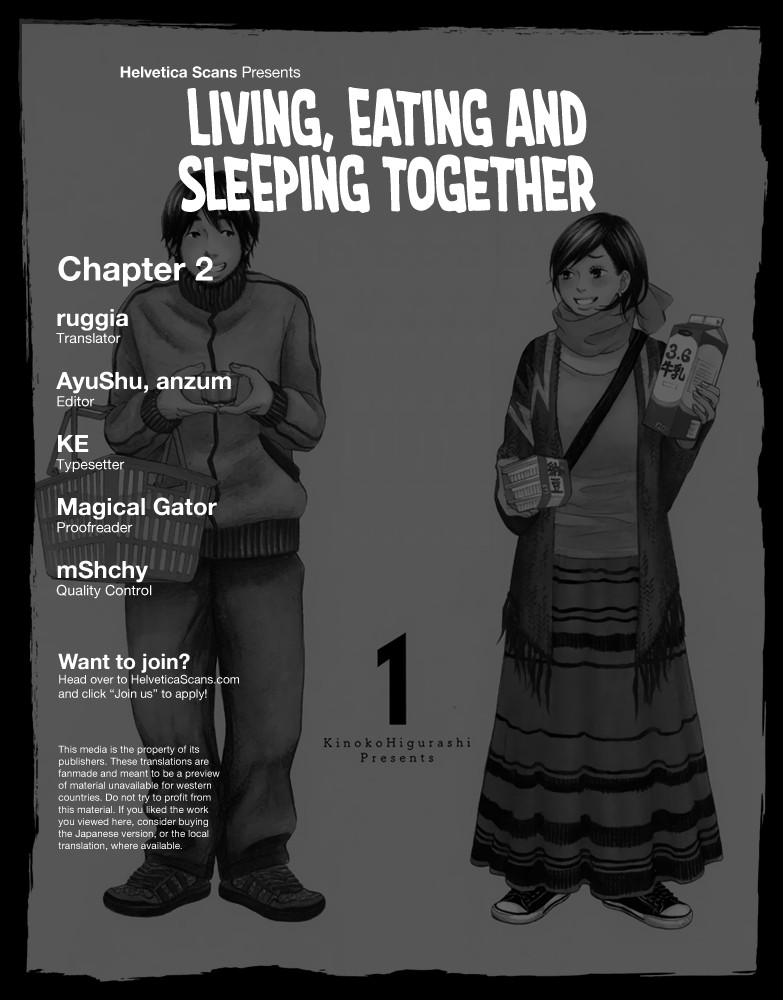 Living, Eating And Sleeping Together - chapter 2 - #1