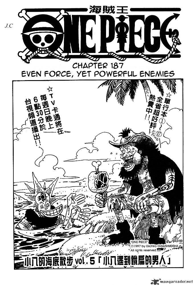 One Piece - chapter 187 - #1