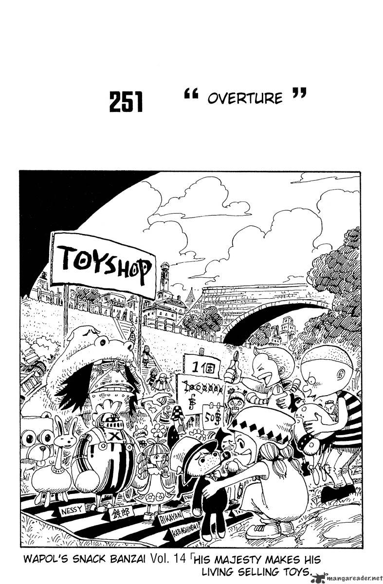 One Piece - chapter 251 - #1