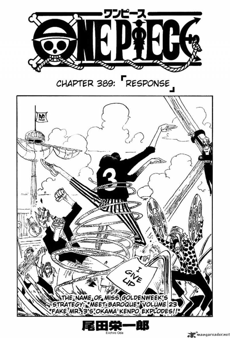 One Piece - chapter 389 - #1