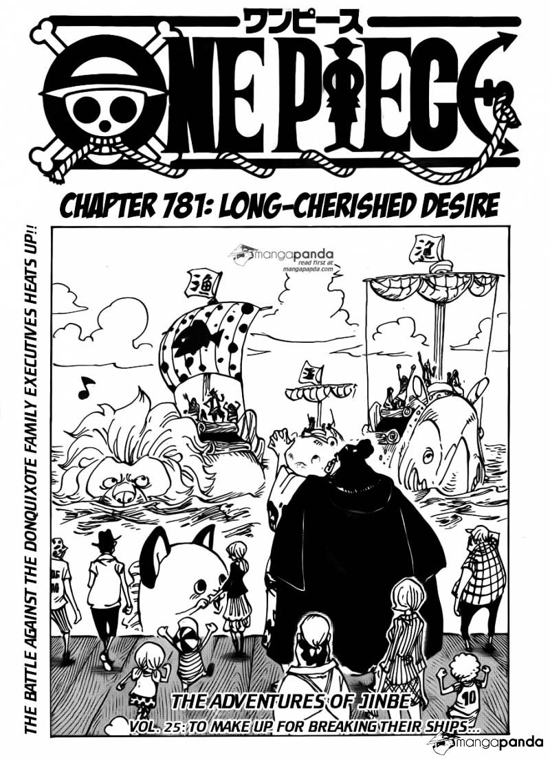 One Piece - chapter 781 - #1