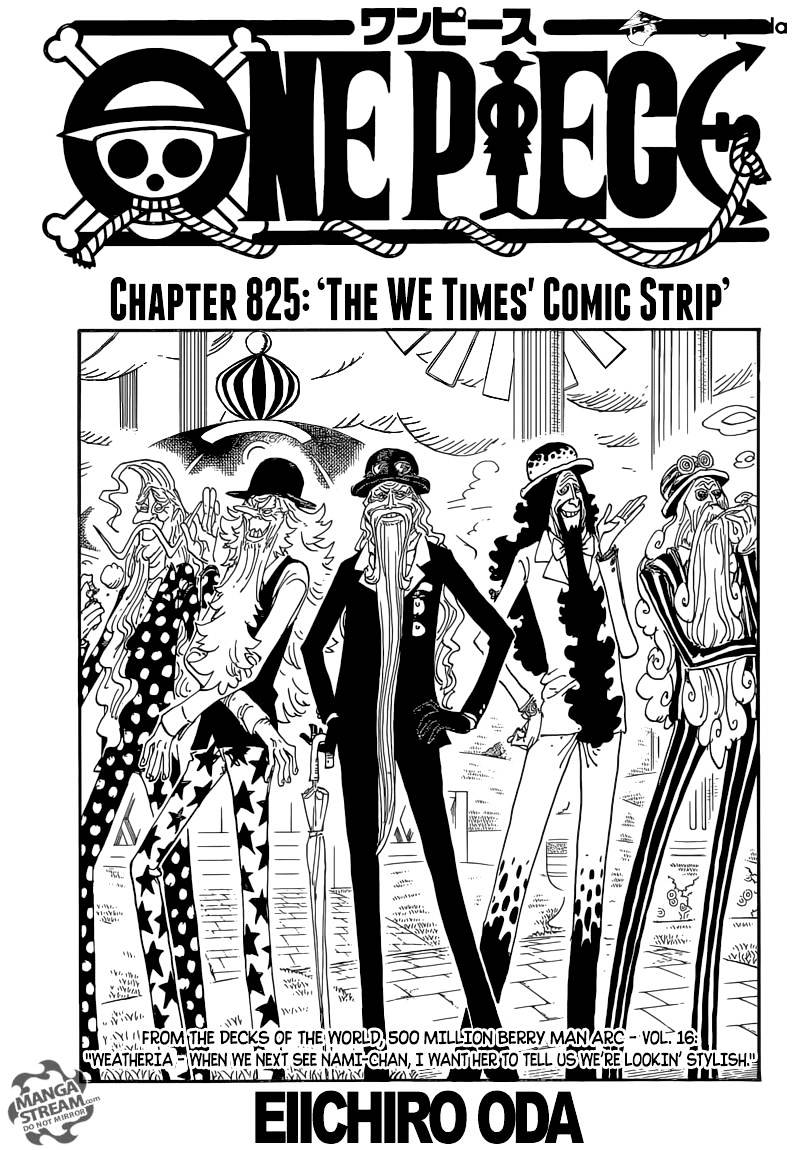 One Piece - chapter 825 - #1