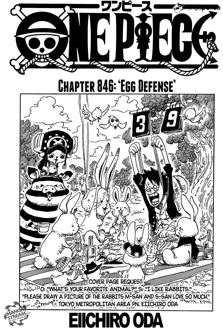 One Piece - chapter 846 - #1