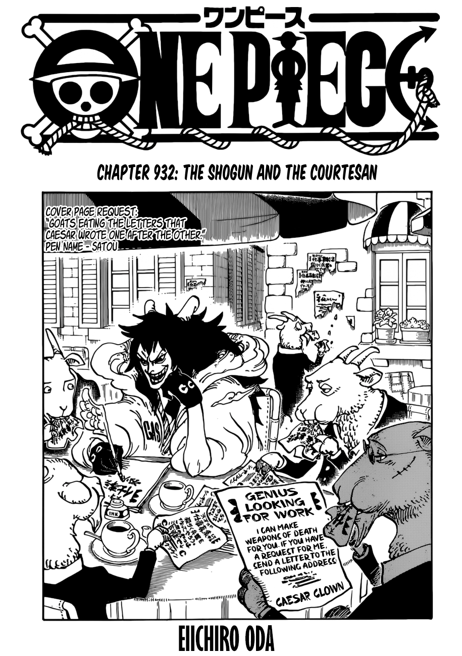 One Piece - chapter 932 - #1
