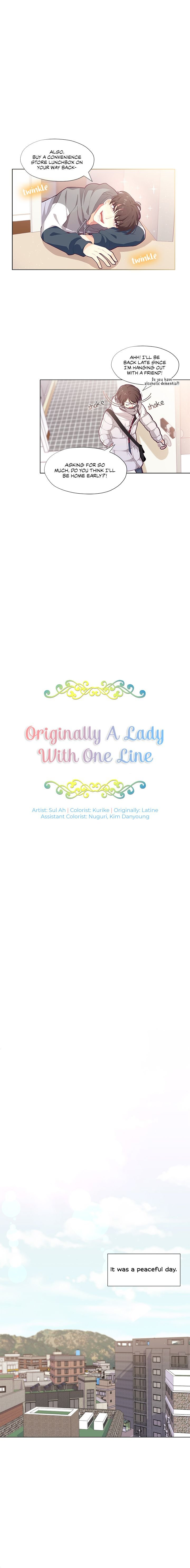Originally A Lady With One Line - chapter 1 - #3