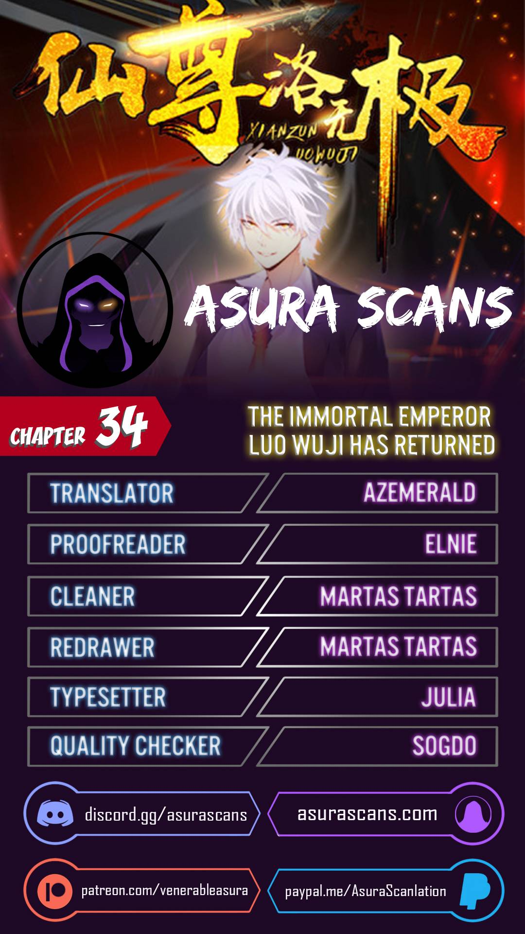The Immortal Emperor Luo Wuji has returned - chapter 34 - #1