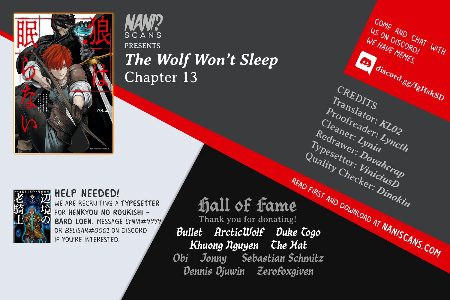 The Wolf Won't Sleep - chapter 13 - #1