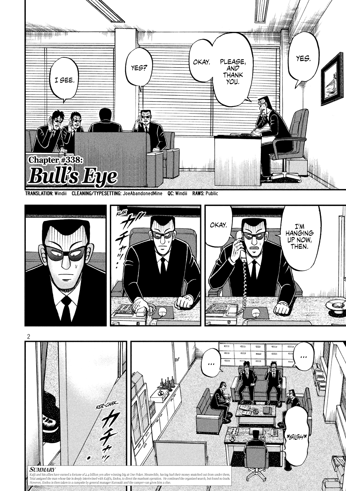 Tobaku Datenroku Kaiji - One Poker Hen - chapter 338 - #2
