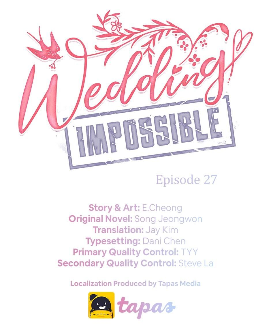 Wedding Impossible - chapter 27 - #1